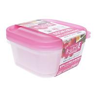 Set 2 hộp bằng nhựa PP cao cấp an toàn tuyệt đối, chịu nhiệt tốt (650ml - màu hồng) - Japan