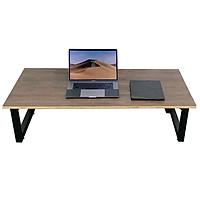 Bàn ngồi bệt gỗ Plywood vân tối chân gấp thấp HOBP008