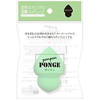 Bông Mút Trang Điểm Tán Kem Nền, Bọt Biển Ponge Color Green, Nhập Khẩu Nhật Bản