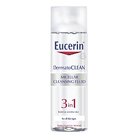Nước Tẩy Trang Dịu Nhẹ Cho Da Nhạy Cảm Eucerin Dermato Clean Micellar Cleansing Fluid 3 In 1 (200ml)