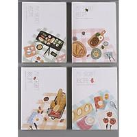 Sổ vở kẻ ngang bìa nhựa trong My Secret Recipe B5 250 trang 19x26cm - 1 cuốn - hình ngẫu nhiên