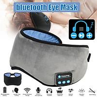 Wireless Stereo Bluetooth Earphone Sleep Eye Cover Headband Sleep Soft Music Headset Blindfold