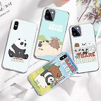 Ốp bảo vệ camera những chú gấu we bare bears ngộ nghĩnh dành cho iphone 5 / 6 / 7 / 8 / se / xr / x / xs / xs max/ 11 pro max / 12 mini - HP578