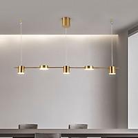 Đèn thả Decor kiểu dáng ống bơ hiện đại phòng ăn, quầy bar màu vàng