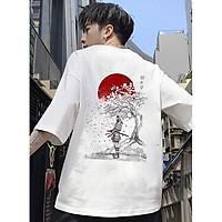Áo thun unisex nam nữ form đẹp hình võ sĩ Nhật Bản đẹp độc lạ vải dày mịn mát 2019T1662
