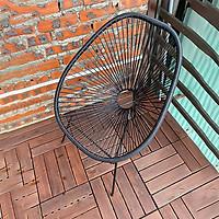 Ghế ban công ngoài trời không kèm bàn RIBO HOUSE chất liệu nhựa mây uống cafe trà thích hợp cả ở phòng khách phòng ngủ RIBO112