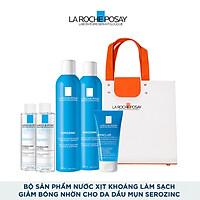 Bộ sản phẩm nước Xịt Khoáng Làm Sạch & Giảm Bóng Nhờn Cho Da Dầu Mụn La Roche-Posay Serozinc