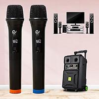 Micro Không Dây,  Karaoke MV01 Gồm 2 mic Chuyên Dành Cho Mọi Loa Kéo, Âm Ly, Tần Số 50, Hát Nhẹ Và Êm, Phù Hợp Cho Những Bữa Tiệc Dã Ngoại, Micro MV01, Hàng Nhập Khẩu