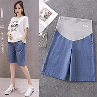 Maternity Cotton Shorts Support Abdomen Elastic Summer Thin Waist Belly Support Pants