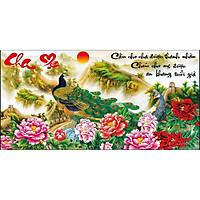Tranh đính đá Cầu cho Cha Mẹ ( chưa đính) - AL88623 - 112x60cm