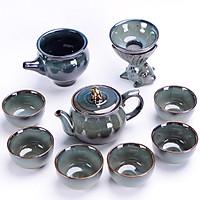 Bộ ấm chén uống trà xanh ngọc
