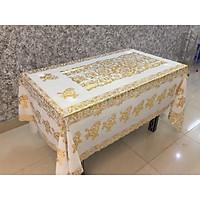 Khăn trải bàn kích thước 150 x 228cm họa tiết 3D dùng cho bàn lớn