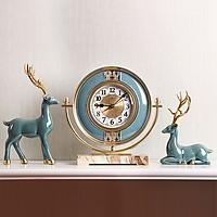 Đồng hồ đôi hươu để bàn, đồng hồ để bàn DH-DH2035