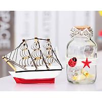 Hộp quà tặng thuyền buồm phát sáng làm quà tặng, vật trang trí, phong thuỷ cực ý nghĩa phát tài phát lộc