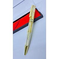 Bút ký cao cấp làm từ Ôc biển vàng 7 sắc màu -- nắp XOÁY - bút xác vàng xoáy