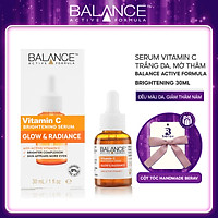 Serum Balance Vitamin C Giúp Trắng Da, Mờ Thâm Active Formula Brightening 30ml - Tặng Kèm Cột Tóc Nơ BERAV Handmade Annie Ribbon Giao Màu Ngẫu Nhiên