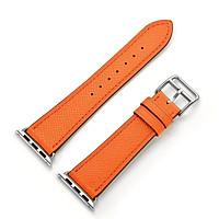 Dây đeo thay thế cho Apple watch bản 42/44mm_ dây da_ màu cam_ hàng nhập khẩu