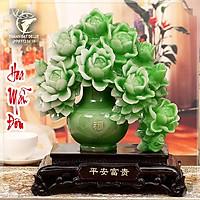 Tượng Hoa Mẫu Đơn (Hoa Phú Quý) Phong Thuỷ , Quà Tặng Tân Gia Khai Trương Sinh Nhật