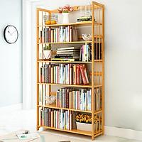 Giá để sách bằng gỗ tre tự nhiên, kệ để sách, tủ sách TUR064