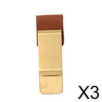 3xUnisex Stainless Steel Brass Slim Money Clip Cash Credit Card Holder Wallet
