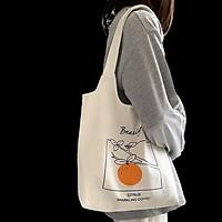 Túi tote vải đeo chéo canvas bag đi học 2020