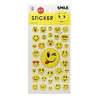 Bộ 3 Sticker Mặt Cười (Mẫu Sản Phẩm Giao Ngẫu Nhiên)