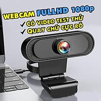 Webcam máy tính Mitsunal FullHD 1080P/720P QUAY CHỮ CỰC NÉT - Thu hình cho máy tính để bàn, Laptop, TV, Rõ nét, Chân thực, Tích hợp MIC thu âm chống ồn, live stream, Streamer, quay video, ghi âm,Vlog, Chơi game, trò chuyện qua Zoom - Hàng chính hãng