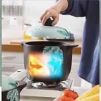Nồi sứ  chịu nhiệt 4 lít - Nồi hầm chậm, nấu cháo cao cấp chịu nhiệt lên tới 2000°C