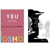 Combo 2 cuốn sách hay: Osho Yêu + Thiên Tài Bên Trái, Kẻ Điên Bên Phải ( Tặng kèm bookmark Thiết Kế)