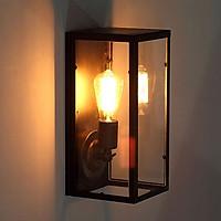 Đèn gắn tường trang trí kiểu công nghiệp hộp kiếng chữ nhật hiện đại GTCN 170