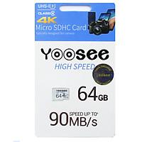 Thẻ Nhớ Có Box MicroSDHC Yoosee 64GB High Speed U3 - Chuyên Camera Và Điện Thoại - Hàng Nhập Khẩu