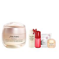 Bộ sản phẩm Kem dưỡng da chống lão hóa giàu ẩm Shiseido Benefiance Wrinkle Smoothing Cream Enriched 50ml