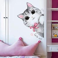 Decal Mèo con dễ thương