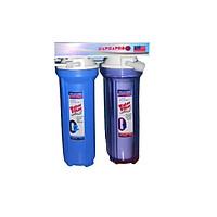 Bộ lọc nước sinh hoạt NaPhaPro - 2 cấp lọc 10 inches - CP2-10- Hàng chính hãng