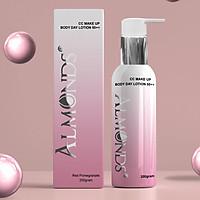Kem dưỡng trắng body ban ngày makeup và chống nắng 50++ Almonds 200g