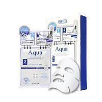 Hộp 10 mặt nạ dưỡng ẩm - chống lão hóa 3 bước Rainbow L'affair Aqua 280ml