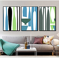 Bộ 3 tranh canvas treo tường Decor Họa tiết trừu tượng, hiện đại - DC100