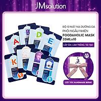 Combo 10 Mặt Nạ Mix Dưỡng Da Toàn Diện Foodaholic Mask 23gx10 - Tặng Kèm Cột Tóc Nơ BERAV Handmade Annie Ribbon  Giao Màu Ngẫu Nhiên
