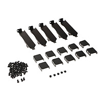 5 Pieces PCI Mount Bracket for 80-90mm Dual Fans Rack VGA Video Cards Cooling