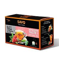 Trà SAVO Dâu (Strawberry Tea) - Hộp 25 Gói x 2g