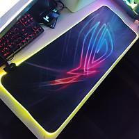 Mouse Pad, bàn di chuột, lót di chuột tích hợp Led RGB ROG version 2 sáng viền, kích thước 80cm x 30cm dày 4mm - Hàng nhập khẩu