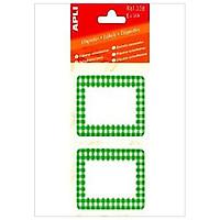 Sticker APLI - Viền Xanh Lá 52 x 78 - 338