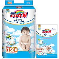 Tã Dán Goo.n Premium Gói Cực Đại L50 (50 Miếng) - Tặng thêm 8 miếng cùng size