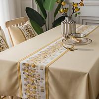 Khăn trải bàn sọc vải bố cotton  chống thấm