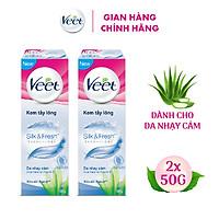 Combo 2 Kem tẩy lông cho da nhạy cảm Veet Silk Fresh 50g