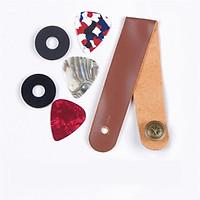 Guitar Strap Acoustic Guitar Electric Guitar Strap Non-slip Mat Leather Strap
