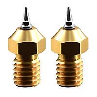 2pcs 3D Printer 0.4mm MK8 Brass Nozzle Head And Nozzle Adapter Set