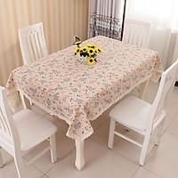 Khăn trải bàn vải canvas hoa bồ công anh - trải bàn nhà hàng - quán ăn-bàn ăn KB09