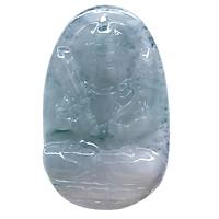 Mặt dây chuyền Hư Không Tạng Bồ Tát Cẩm Thạch tự nhiên - Phật Độ Mạng cho người tuổi Sửu, Dần - PBMJAD02 (Mặt kèm sẵn dây đeo)