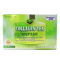Diệp Lục Collagen HDPHARMA làm đẹp da, chống lão hóa, ngừa nếp nhăn - Hộp 30 gói bổ sung Vitamin C, Isoflavon, Acid hyaluronic, Biotin
